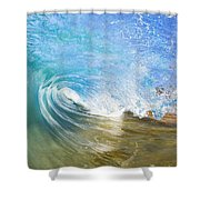 Clear Blue Wave Shower Curtain