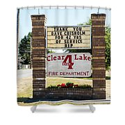 Clear Lake Fire Department Shower Curtain