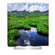 Clear Lake Reflections Shower Curtain