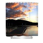 Clear Lake Sunset Shower Curtain