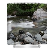 Clear Rapids Shower Curtain