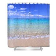 Clear Shoreline Shower Curtain