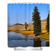 Clear Skies Over Slough Creek Shower Curtain