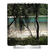 Clear Waters At The Beach Shower Curtain
