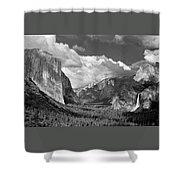 Clearing Skies Yosemite Valley Shower Curtain