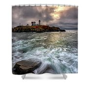 Clearing Storm At Cape Neddick Shower Curtain