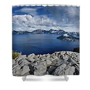 Clearing Storm At Crater Lake Shower Curtain
