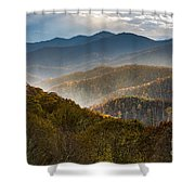 Clearing Storm At Webb Overlook Shower Curtain