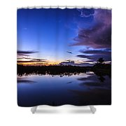 Clearing Storm Over The Anhinga Trail Shower Curtain