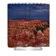 Clearing Storm Over The Hoodoos Bryce Canyon National Park Shower Curtain by Dave Welling