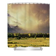 Clearing Summer Storm Grand Tetons National Park Shower Curtain