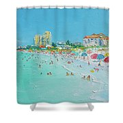 Clearwater Beach Florida Shower Curtain