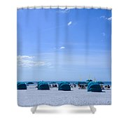 Clearwater Beach Florida Shelters Shower Curtain