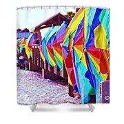 Clearwater Beach Pier 60 Shower Curtain