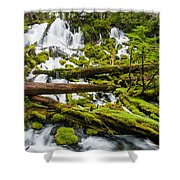 Clearwater Falls And Rapids Shower Curtain
