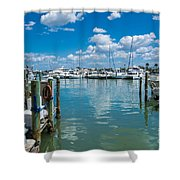 Clearwater Marina Shower Curtain