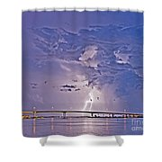 Clearwater Memorial Bridge II Shower Curtain