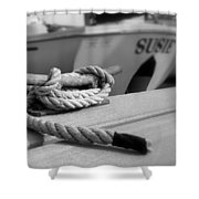Cleat Hitch Boat Art Shower Curtain