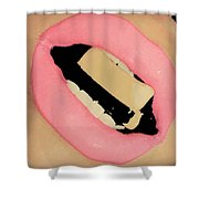 Cleavage Candied Lips Shower Curtain