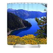 Cleetwood Cove At Crater Lake Shower Curtain