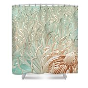 Clematis Center - Retro Abstract Shower Curtain