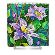 Clematis For Elsie Shower Curtain