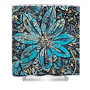 Clematis In Blue Fantasia Shower Curtain
