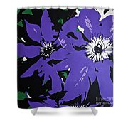 Clematis Jackmanii Shower Curtain