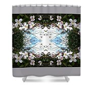 Clematis Sky Window Shower Curtain
