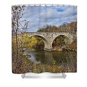 Clement Stone Arch Bridge Shower Curtain