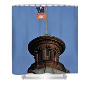 Clemson Flag At State House Shower Curtain