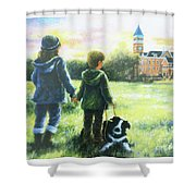 Clemson Kids Big Sister Little Brother Shower Curtain