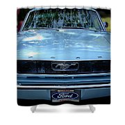 Clemson Tigers Ford Mustang Shower Curtain