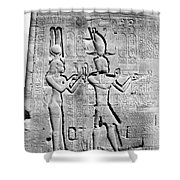 Cleopatra And Caesarion, Temple Shower Curtain