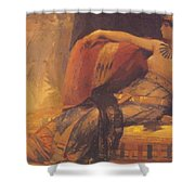 Cleopatra Preparatory Study For Cleopatra Testing Poisons On The Condemned Prisoners Shower Curtain