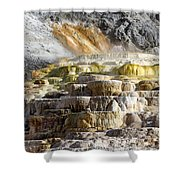 Cleopatra Terrace In Yellowstone National Park Shower Curtain