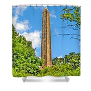 Cleopatra's Needle In Central Park Shower Curtain