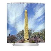Cleopatras Needle New York Shower Curtain