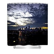 Cleveland At Dusk Shower Curtain