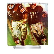 Cleveland Browns 1965 Cb Helmet Poster Shower Curtain