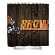 Cleveland Browns Barn Door Shower Curtain