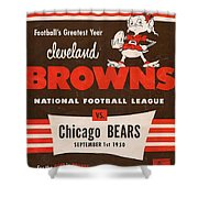 Cleveland Browns Vintage Program 5 Shower Curtain