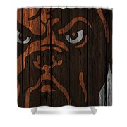 Cleveland Browns Wood Fence Shower Curtain