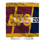 Cleveland Cavaliers Flag2 Shower Curtain