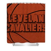 Cleveland Cavaliers Leather Art Shower Curtain