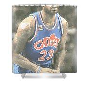Cleveland Cavaliers Lebron James 1 Shower Curtain