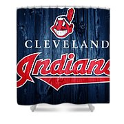 Cleveland Indians Barn Door Shower Curtain