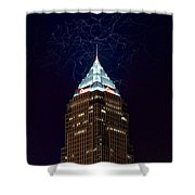 Cleveland Key Building With Electricity Shower Curtain