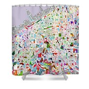 Cleveland Map 2 Shower Curtain