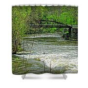 Cleveland Metropark Bridge Shower Curtain